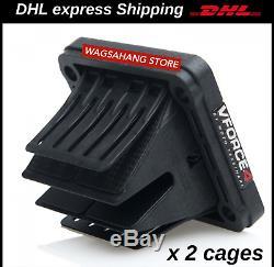 2 Sets VForce 4 Reed Valve Cages For Yamaha RX 135 RXZ135 RD350 BANSHEE YFZ 350