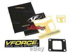 88-90 Yamaha Sno-scoot Vforce III Kit De 3 Clapets À Lamelle Renforcé Neige Carbone Fibre De Carbone